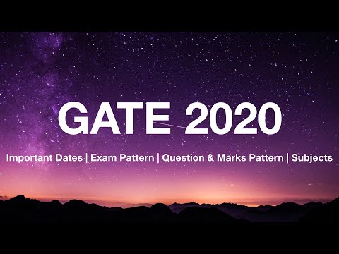 GATE 2020 Important Informations