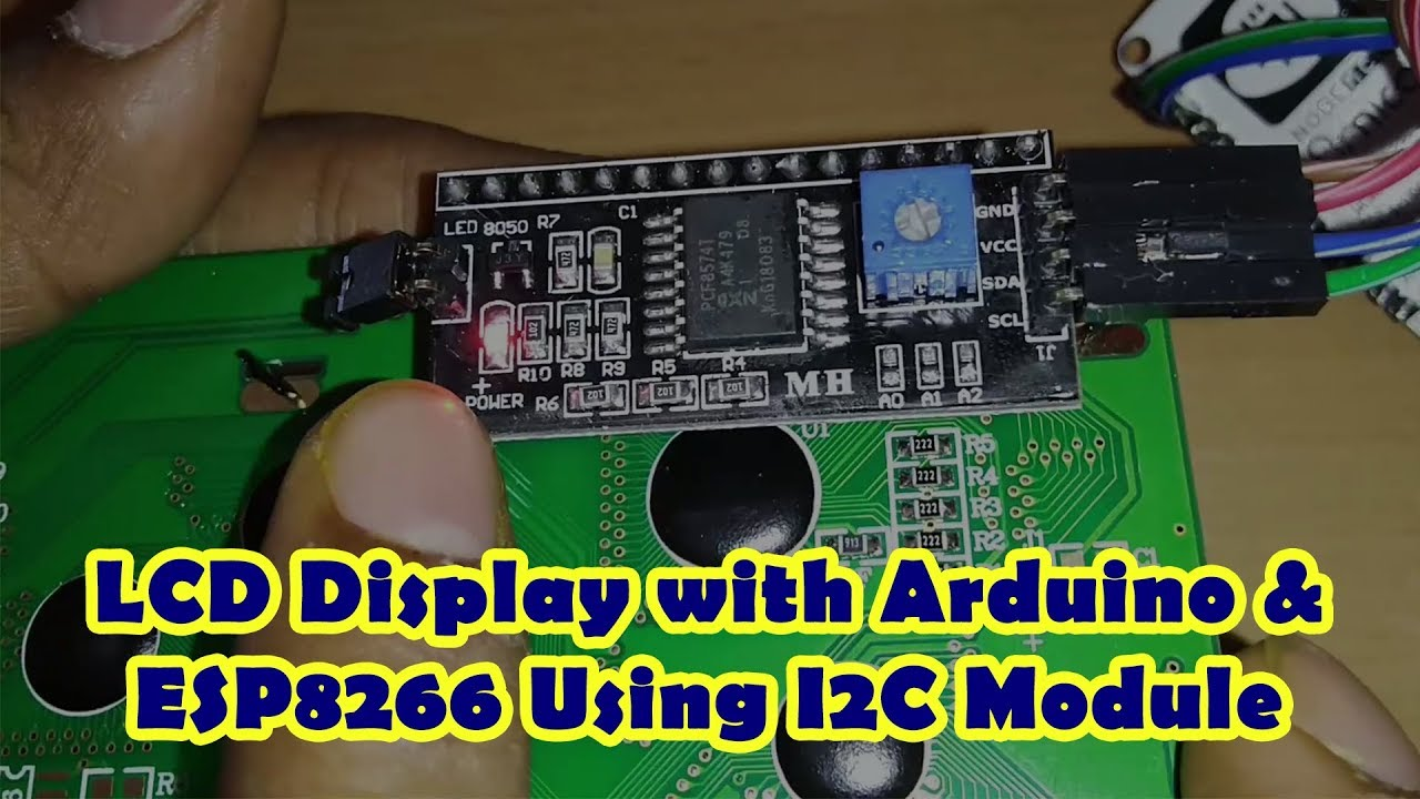 Connect LCD Display with ESP8266 Using I2C Module - Som Tips