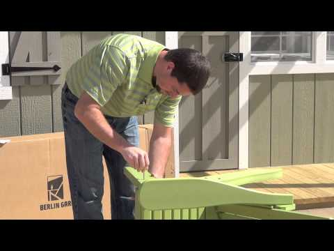 Berlin Gardens Adirondack Chair Assembly YouTube