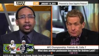ESPN First Take   Andrew Luck, Colts still can't keep pace with New England Patriots   First Take