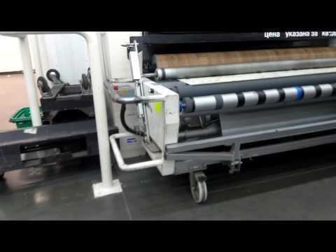 Как нарезают и упаковывают линолеум