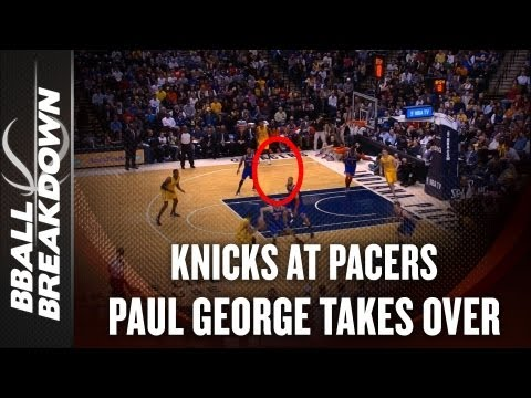 NBA 2012-13: Knicks at Pacers - Paul George Takes A Bite Out of the Big Apple