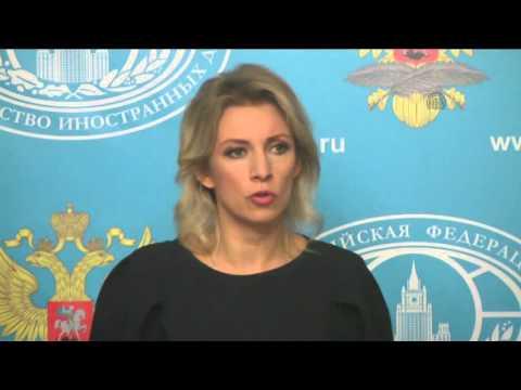 Russian Foreign Ministry's spokesperson Zakharova