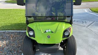 Golf cart ride in The Villages, will be driving by new rental.