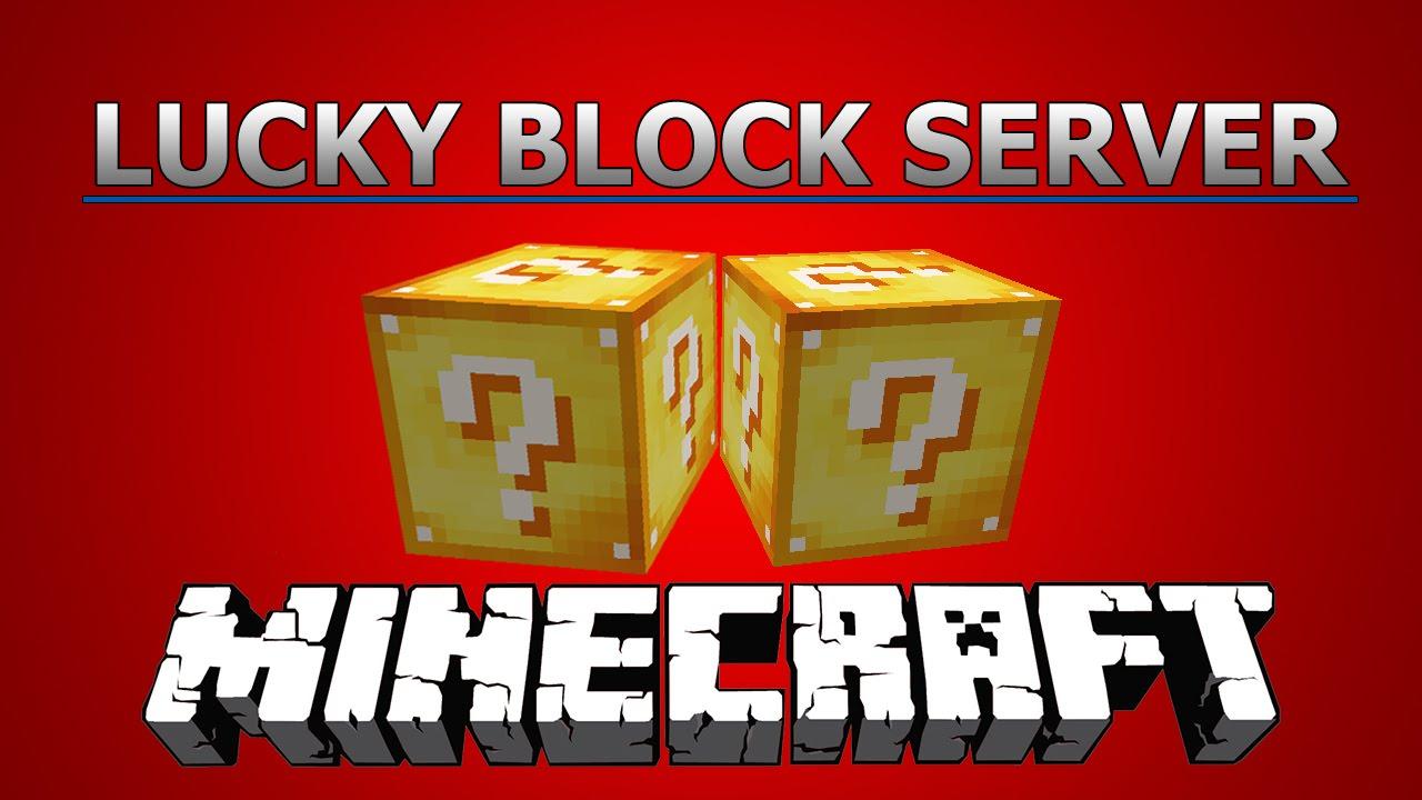 Minecraft - Lucky Block Server! Multiplayer [MINIGAME] - YouTube