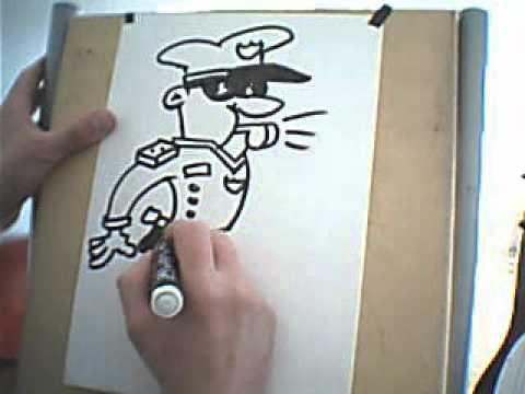 Dibujando un Policia  Drawing a Police  YouTube
