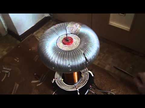 TESLA POWER   Tesla's free energy coil in action!