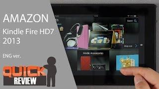 [EN] Amazon Kindle Fire HD 7 2013 Quick Review