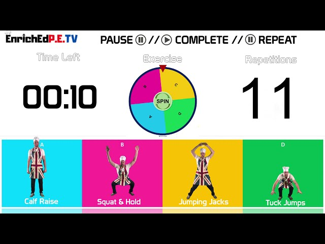 PE Chef S10E1: Fitness Spinner // Round #1