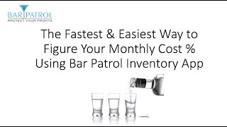... here is the fastest and easiest way to get your pour cost % numbers plug them into profit loss statements at t...