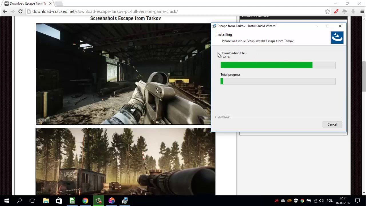 escape from tarkov download slow