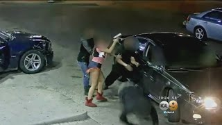 Woman Accused Of Opening Fire At Gas Station Is Caught On Video
