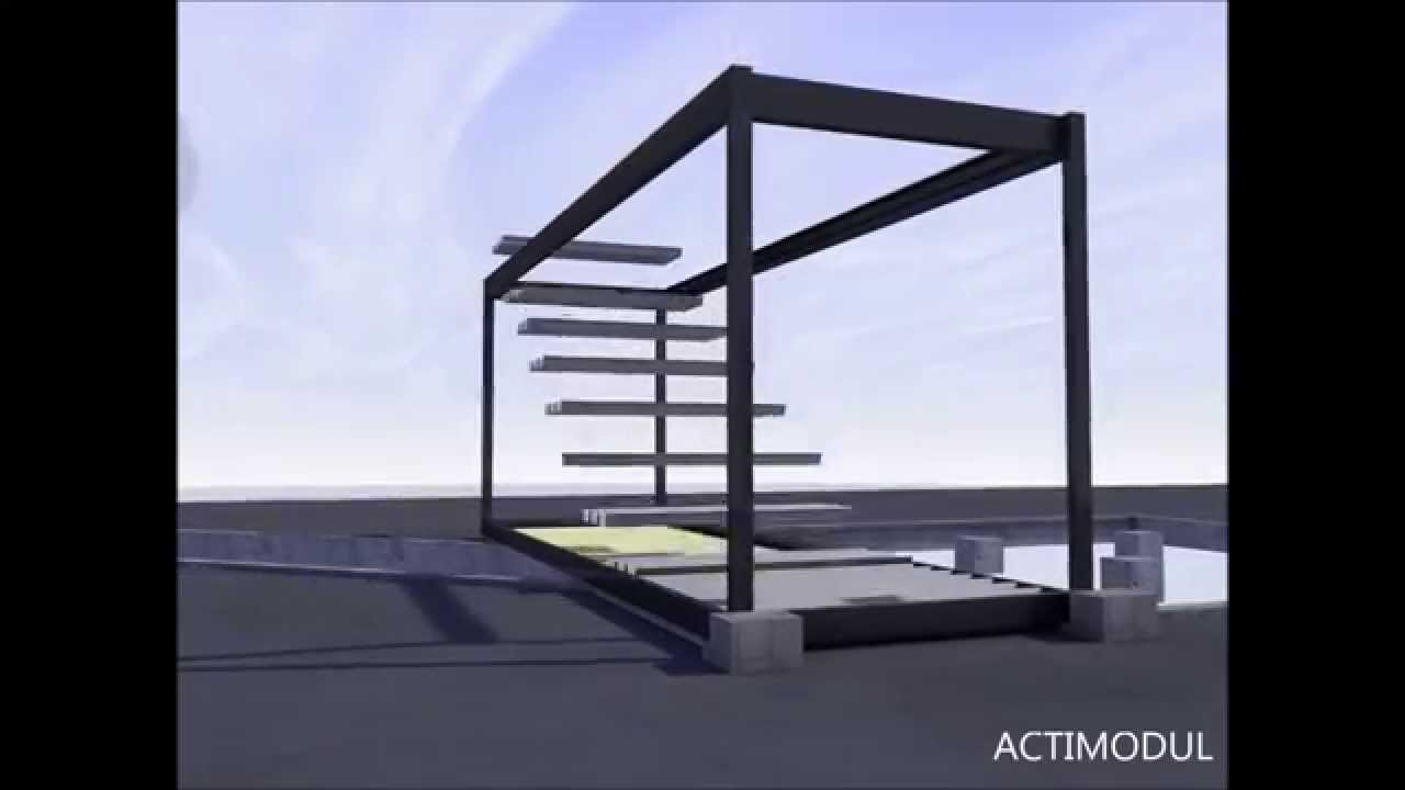 les tapes de construction d 39 un b timent modulaire en 3d by actimodul youtube. Black Bedroom Furniture Sets. Home Design Ideas
