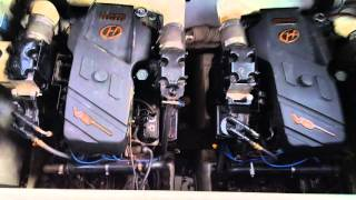 2002 Mustang 3200 cruiser engines testing for AUCTION at Reposell.com Fort Myers Auction Company
