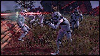 FULL SCALE First Order Army INVASION - Men of War: Star Wars Mod Battle Simulator