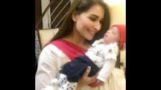 Latest Clicks of Actress Reema Khan with her Husband & Son in USA (Pak Indo Showbiz Updates)