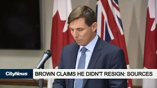 Patrick Brown claims he didn't resign, according to sources
