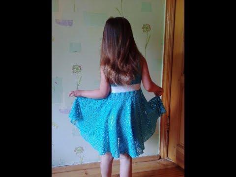 Платье крючком на девочку 8 лет