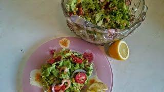 Салат с креветками Рецепт с кукурузой приготовить блюда на праздничный стол ужин вкусно и быстро