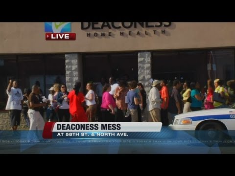 Deaconess workers protest after not being paid