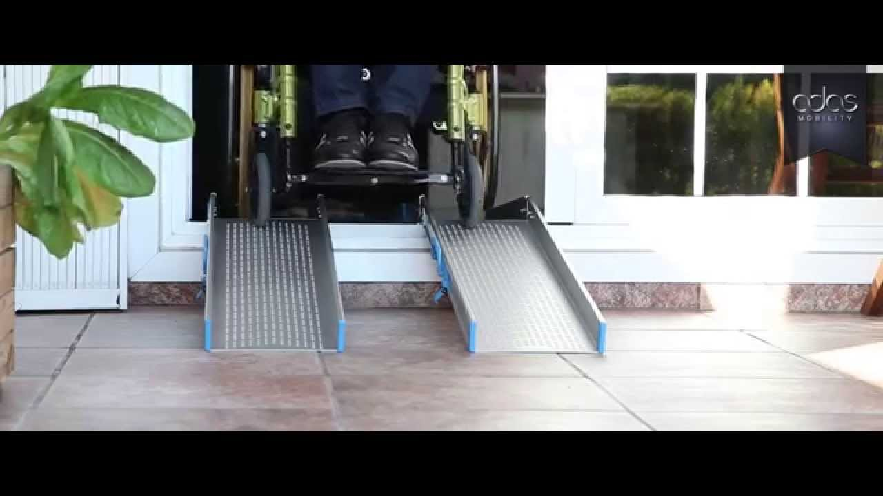 Rampas plegables de ra l para sillas de ruedas youtube - Garajes para coches ...