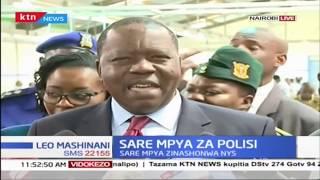 Waziri Matiang'i afanya Ukaguzi wa sare mpya za Polisi