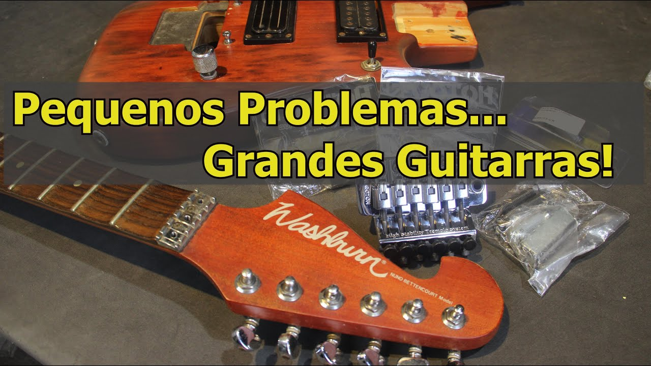 Guitarra Washburn N2: Correção Escalopagem +Trastes em Inox+ Ponte Gotoh + Reparos.  Luth. Brunelli
