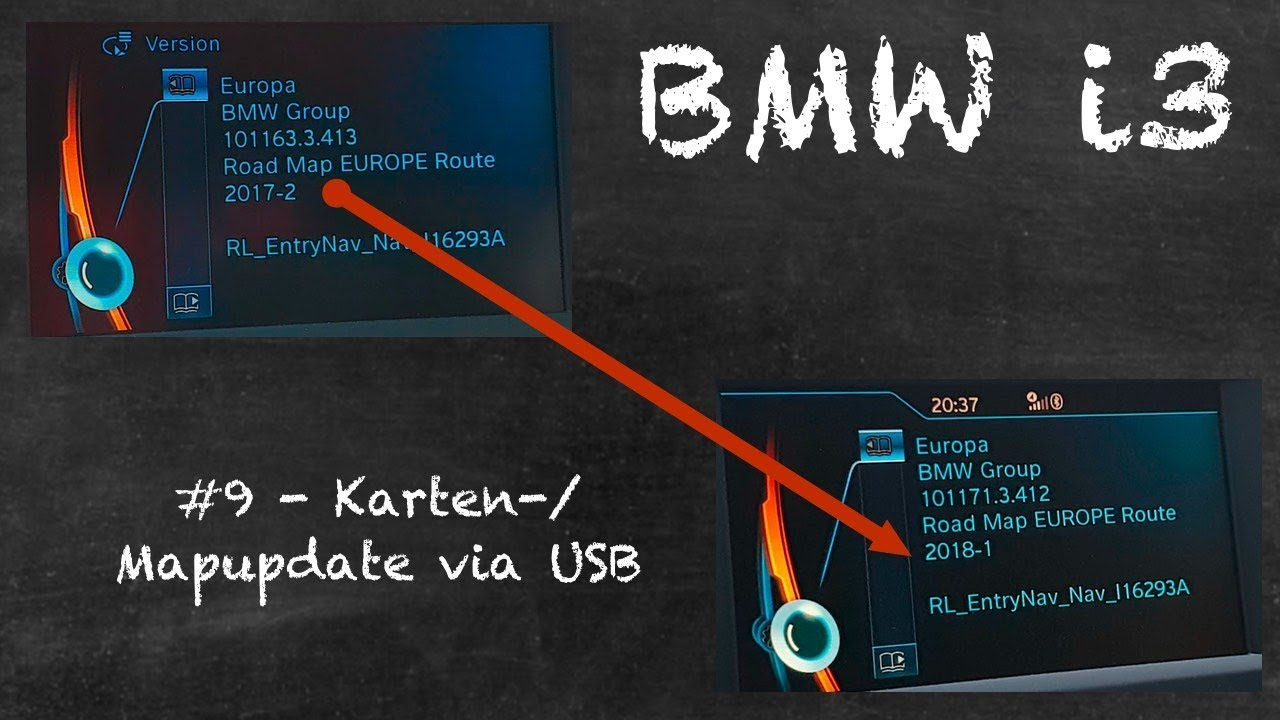 bmw i3 2018 9 anleitung navi update via usb youtube. Black Bedroom Furniture Sets. Home Design Ideas