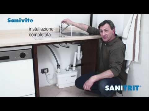 Pompa Per Scarico Lavello Cucina.Sanivite Sanitrit Youtube