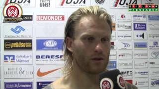 [SVWW] Nico Herzig nach dem Spiel gegen Münster [SV Wehen Wiesbaden]