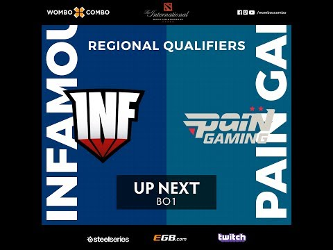 Pain Gaming vs Infamous   The International 8 SA Regional Qualifiers