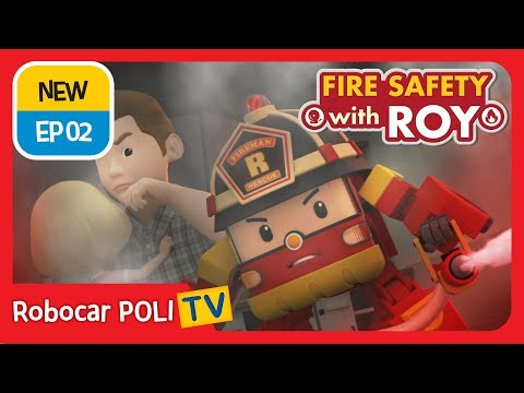🔥fire-safety-with-roy-|-ep02-|-be-careful-in-the-kitchen-|-robocar-poli-|-kids-animation