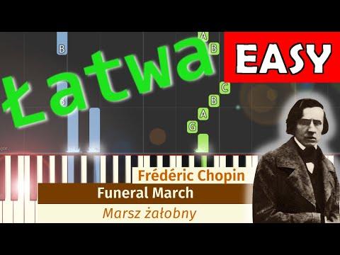 🎹 Marsz pogrzebowy (żałobny, Funeral March, F. Chopin) - Piano Tutorial (łatwa wersja) (EASY) 🎹