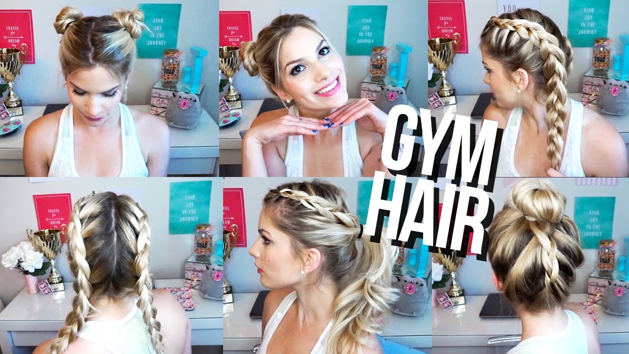 quick & easy gym hairstyles! ♡ - youtube