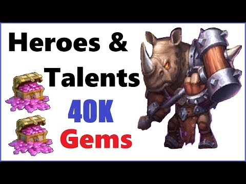 Nice Session - 40k Gems For Talents And Many Duplicates - Castle Clash