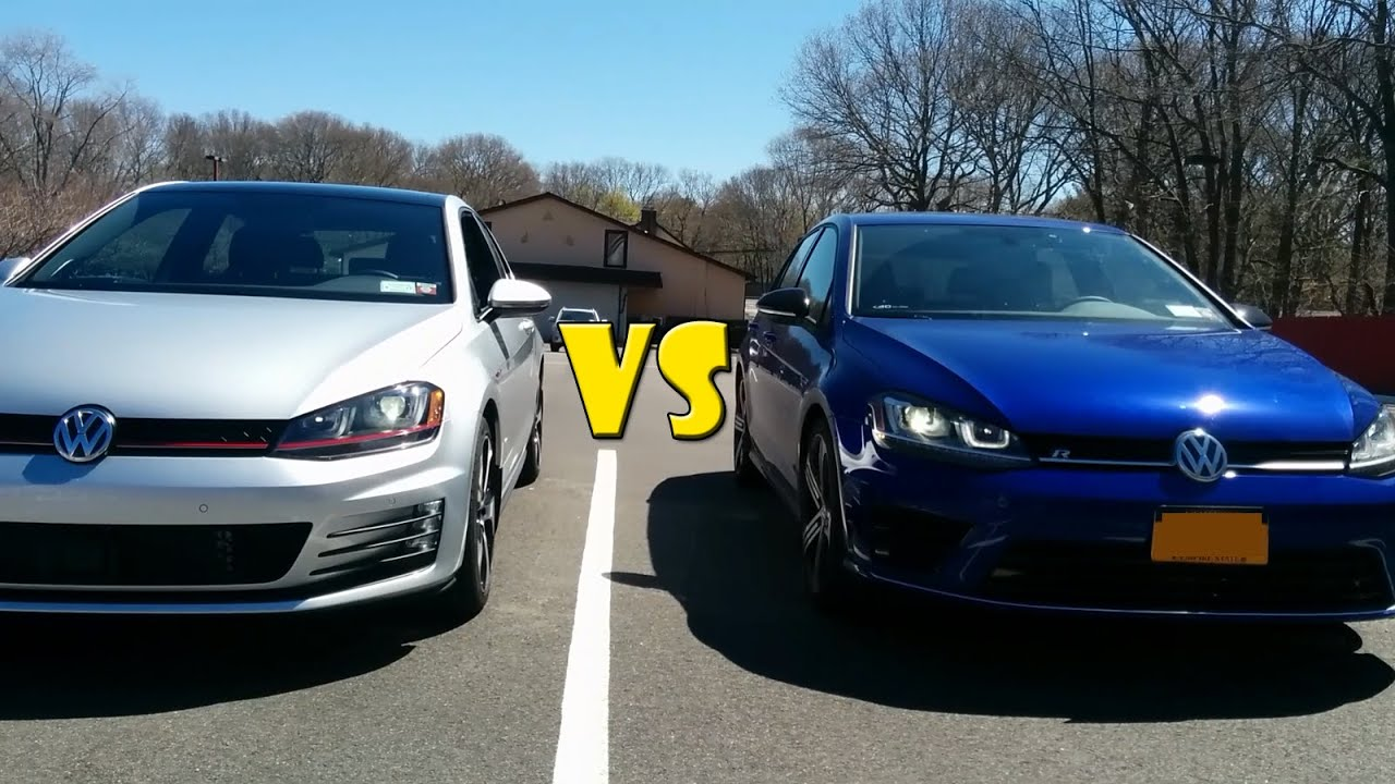 golf gti vs golf r youtube. Black Bedroom Furniture Sets. Home Design Ideas