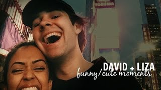 david & liza | funny/cute moments (part one)