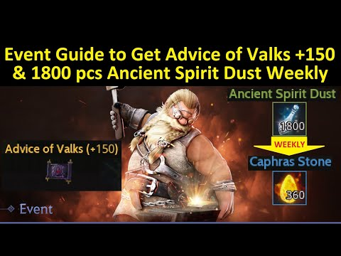 Event Guide to Get Advice of Valks +150 & 1800 Ancient Spirit Dust Weekly (Time Stamp & Subtitle)