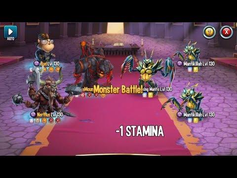 Monster Legends - Beat Sparking Mantis level130 Spotlight Dungeon Boss Premiere monster