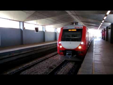 Riding the Trensurb (Metro) in Porto Alegre, Brazil
