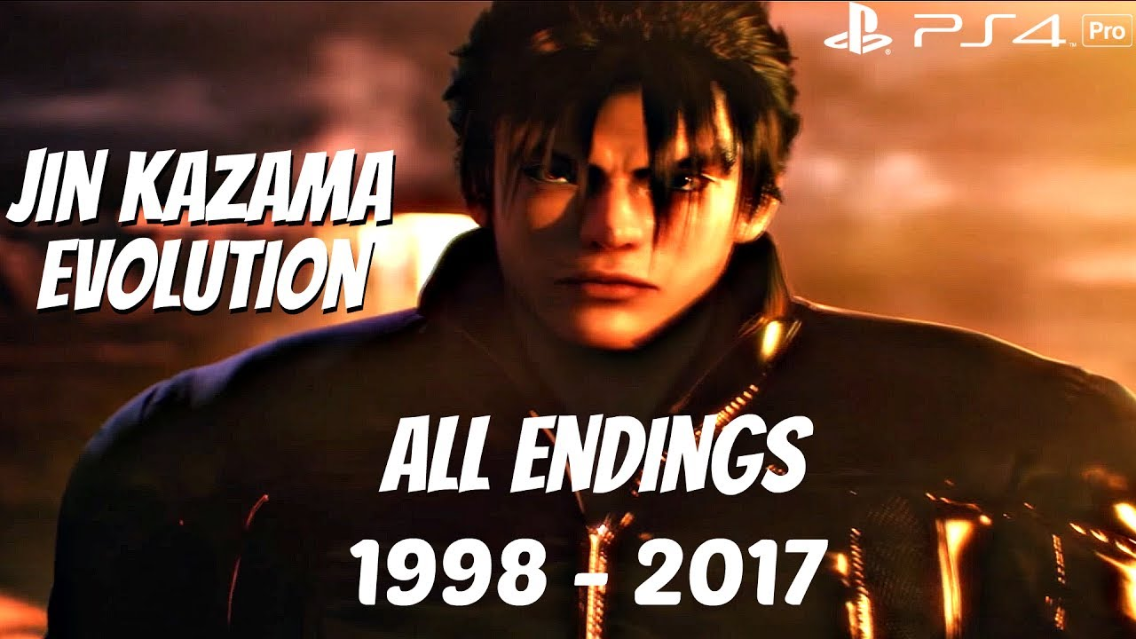 Tekken Series All Jin Kazama Devil Jin Endings 1998 2017