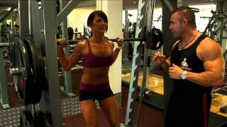 Ladies Smith Machine Squat Exercise