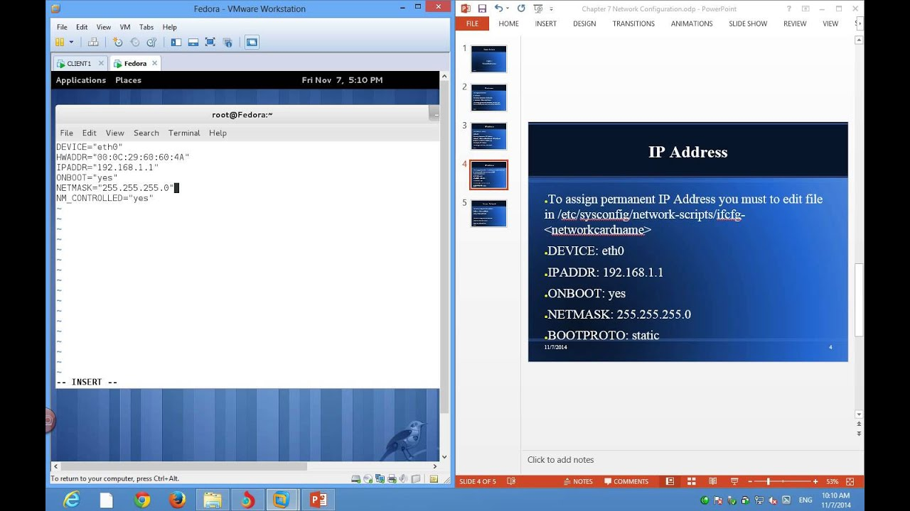 Linux Fedora 15   Network Configuration   Network   krumony