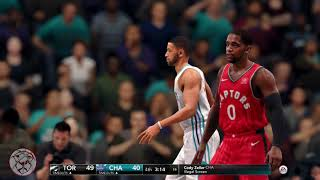 NBA Live 18: Raptors vs Hornets - 4th Quarter. The Feast.