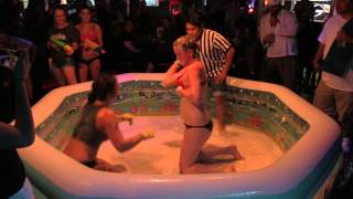 Girl on Girl Oil Wrestling SMACK DOWN at The Ugly Dog Sports Cafe