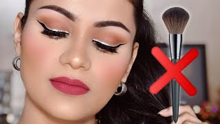 बिना ब्रशेस के कैसे करें मेकअप NO BRUSHES!! Quick & Easy Makeup Without Using Brushes