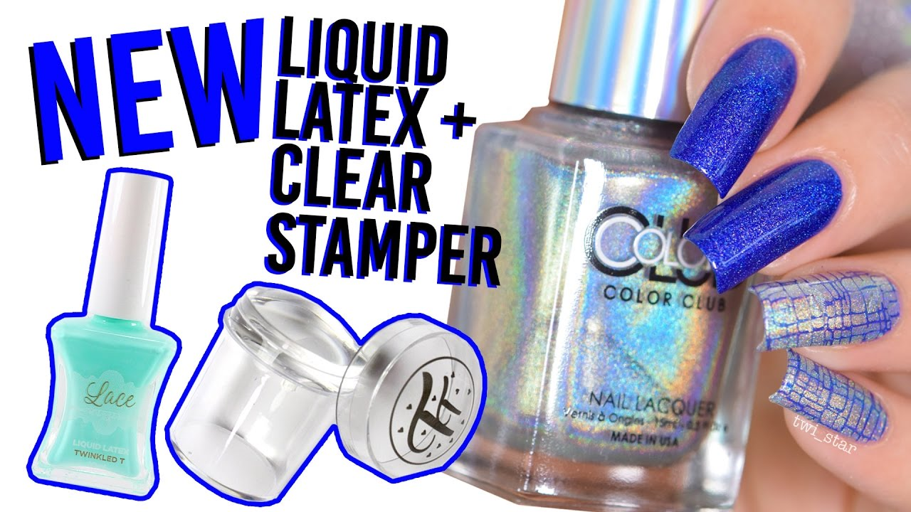 NEW Nail Stuff First Impression - Liquid Latex + Clear Stamper + ...