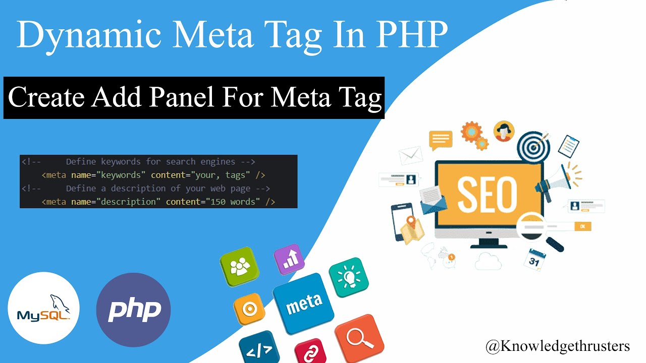 Download Dynamic Meta Tag in PHP | Create Add Meta Tag Panel | Dynamic Title Keyword and Description | Part-1