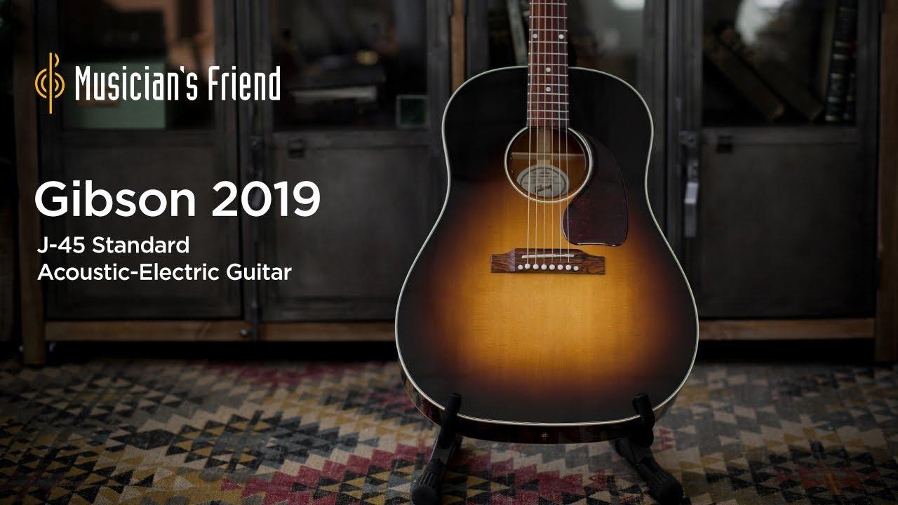 e642f15450e Gibson 2019 J-45 Standard Vintage Sunburst Acoustic-Electric Guitar Demo
