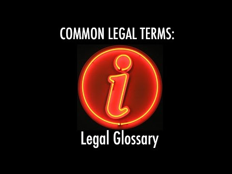 "COMMON LEGAL TERMS: ""i"" - Legal Glossary - iRepMyself.com"